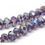 Бусина-рондель,  фиолетовый, 8мм