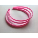 Основа для обруча розовая (0,8 см, округлая)