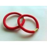 Резинка для волос красная, d=5,5 см, шт
