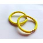 Резинка для волос желтая, d=5,5 см, шт