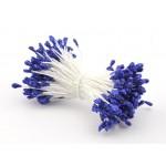Тычинка синяя с блестками (двустор.) 85 ниток