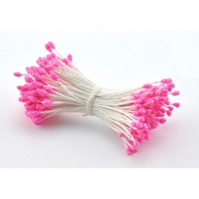 Тычинка ярко-розовая с блестками (двустор.) 85 ниток