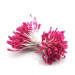 Тычинка фиолетово-розовая с блестками (двустор.) 85 ниток