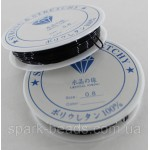 Силиконовая нить резинка (черная) 0,8 мм