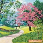 Набор для вышивки бисером «Цветущий парк»