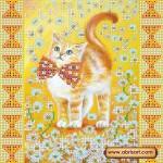 Схема для вышивки бисером «Солнечный котенок»