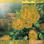 Схема для вышивки бисером «Чайные розы»