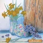 Набор для вышивки бисером «Нарциссы и виноград»