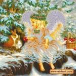 Схема для вышивки бисером «Рождественский гостинец»