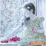 Схема для вышивки бисером «Девочка и вишни»