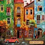 Набор с бисером для вышивки бисером «Цветной городишко»