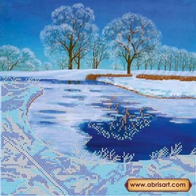 Схема для вышивки бисером «Хрустальное озеро»