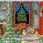 Схема для вышивки бисером «Канун Рождества»
