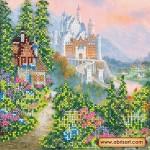 Схема для вышивки бисером «Волшебный замок»