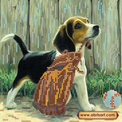 Набор для вышивки бисером «Игривый щенок»