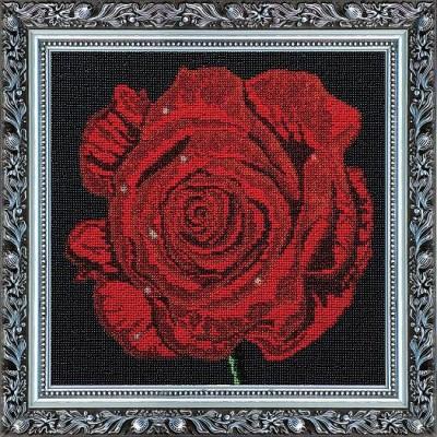 Набор с бисером  для вышивки бисером «Роза»