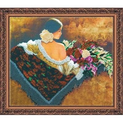 Набор с бисером  для вышивки «Сеньерита»