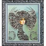 Набор с бисером  для вышивки бисером «Селена»