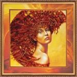 Набор с бисером  для вышивки бисером «Стихия огня»