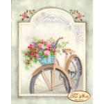 """Схема для вышивки бисером """"Винтажный велосипед"""""""