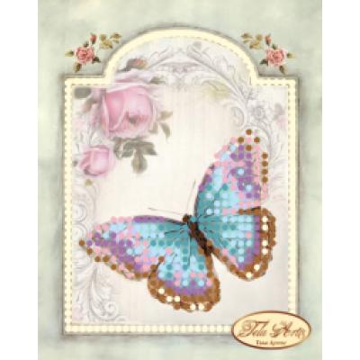 """Схема для вышивки бисером """"Винтажная бабочка"""""""