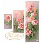 """Схема для вышивки бисером, триптих """"Розовый сад"""""""