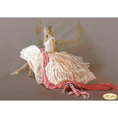 Схема для вышивки бисером «Балерина»