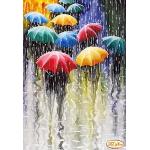 Схема для вышивки бисером «Веселые зонтики»