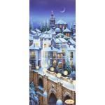 Схема для вышивки бисером «Заснеженный город»