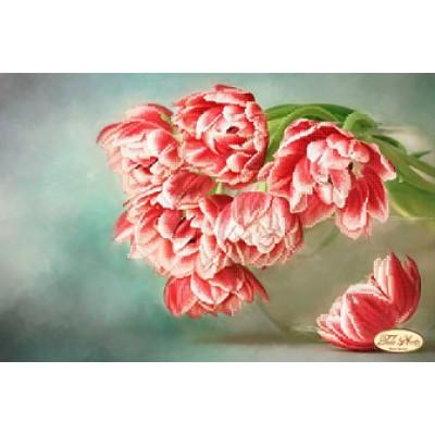 Схема для вышивки бисером «Бокэ. Тюльпаны Андорра»