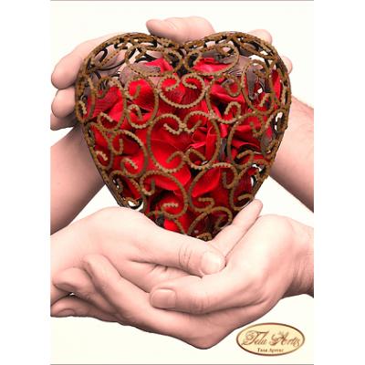 """Схема для вышивки бисером """"Одно сердце на двоих"""""""