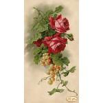"""Схема для вышивки бисером """"Розы и виноград"""""""