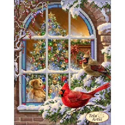 Схема для вышивки бисером «Рождественская атмосфера»