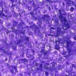 Бисер 01123 / 12700 (прозрачный, фиолетовый)