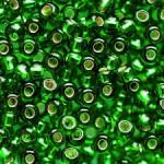 Бисер № 8 57120 (блестящий, зеленый), 10 г