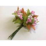 Тычинки сложные Бело-розовые (10 шт в пучке)