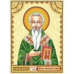 Схема для вышивки иконы бисером на холсте «Святой Стефан (Степан)»