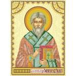 Схема для вышивки иконы бисером на холсте «Святой Тарасий (Тарас)»
