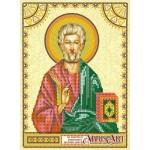 Схема для вышивки иконы бисером на холсте «Святой Матфей (Матвей)»