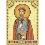 Схема для вышивки иконы бисером на холсте «Святой Святослав»