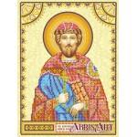 Схема для вышивки иконы бисером на холсте «Святой Ростислав»