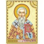 Схема для вышивки иконы бисером на холсте «Святой Мирон»