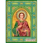 """Схема для вышивки иконы бисером на холсте «Икона """"Святой Пантелеймон»"""