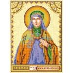 Схема для вышивки иконы бисером на холсте «Святая Ангелина»