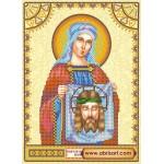 Схема для вышивки иконы бисером на холсте «Святая Вероника»