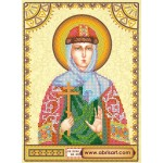 Схема для вышивки иконы бисером на холсте «Святая Иулиания (Ульяна)»