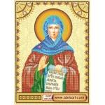 Схема для вышивки иконы бисером на холсте «Святая Аполлинария (Полина)»