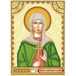 Схема для вышивки иконы бисером на холсте «Святая Ариадна (Арина)»