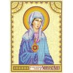 Схема для вышивки иконы бисером на холсте «Святая Соломия»