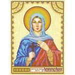 Схема для вышивки иконы бисером на холсте «Святая Марта»